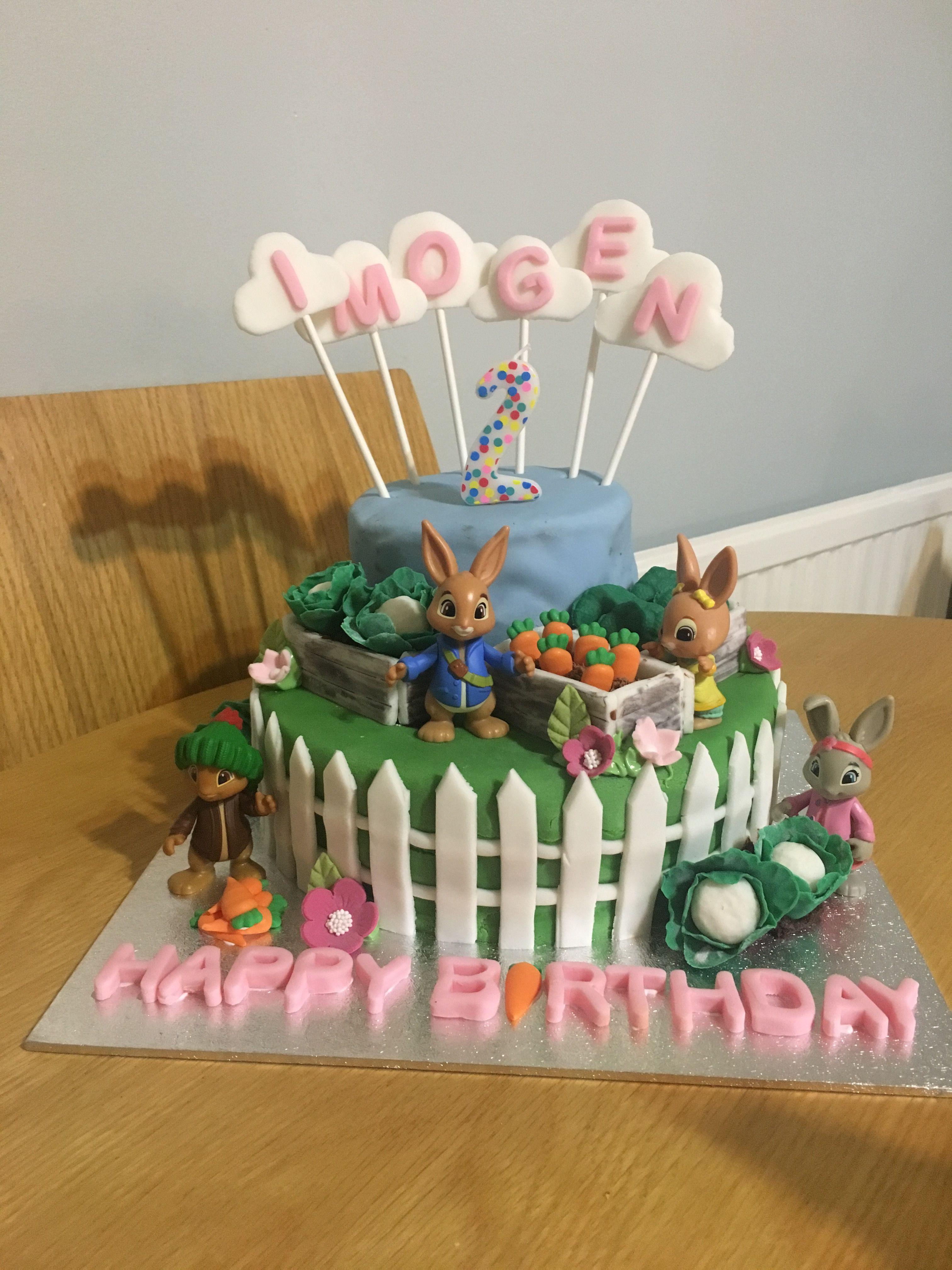 Home Made Peter Rabbit Birthday Cake 3rd Birthday Cakes Peter