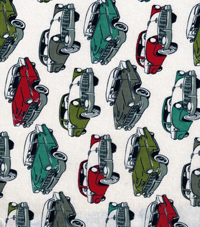 Novelty Cotton Fabric-Antique Cars