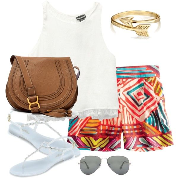 Untitled #2 by sjdx on Polyvore featuring polyvore, fashion, style, Wet Seal, J.Crew, L.K.Bennett, Chloé, Bling Jewelry and Ray-Ban