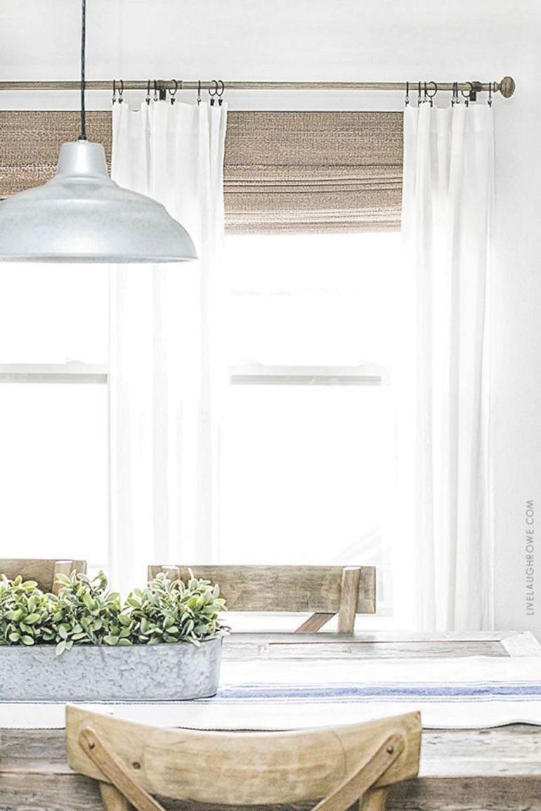 12 Best Simple Farmhouse Window Treatments Style You Need ... on Living Room:rabldsgvkje= Farmhouse Curtain Ideas  id=52387