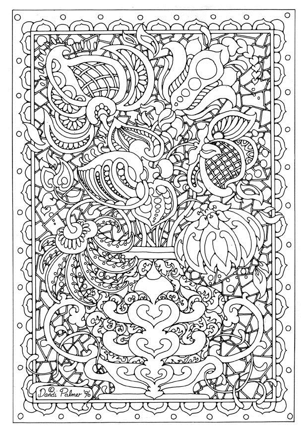 Difficult Coloring Pages Detailed Coloring Pages Coloring Pages Flower Coloring Pages