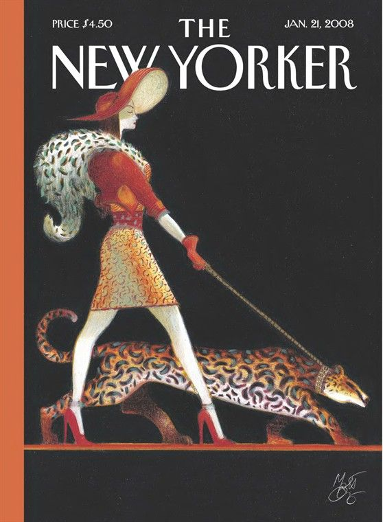 Lorenzo Mattotti The New Yorker Covers January 21 2008 With