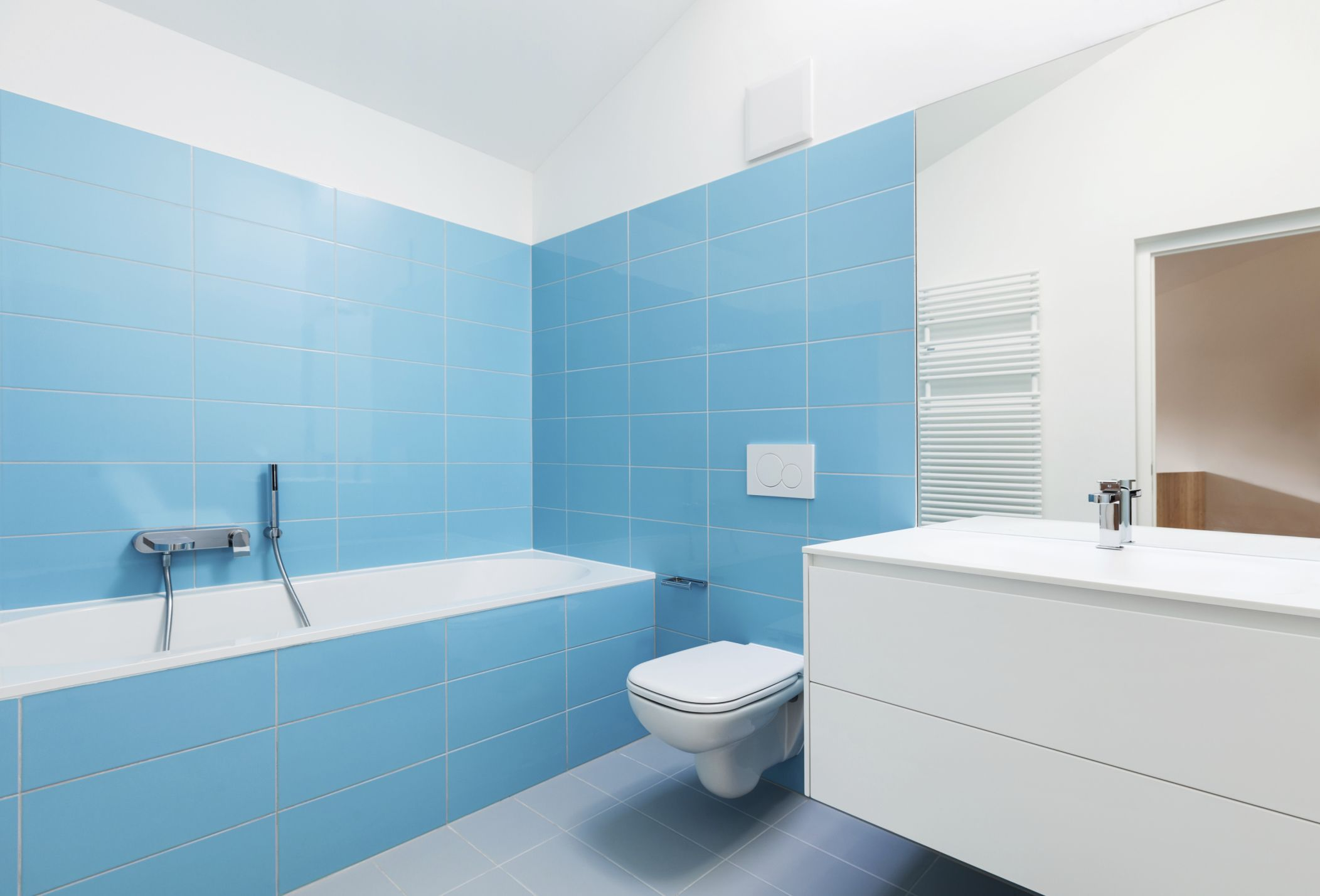 Interior Beautiful House Banos Pintados Azulejos Diseno De
