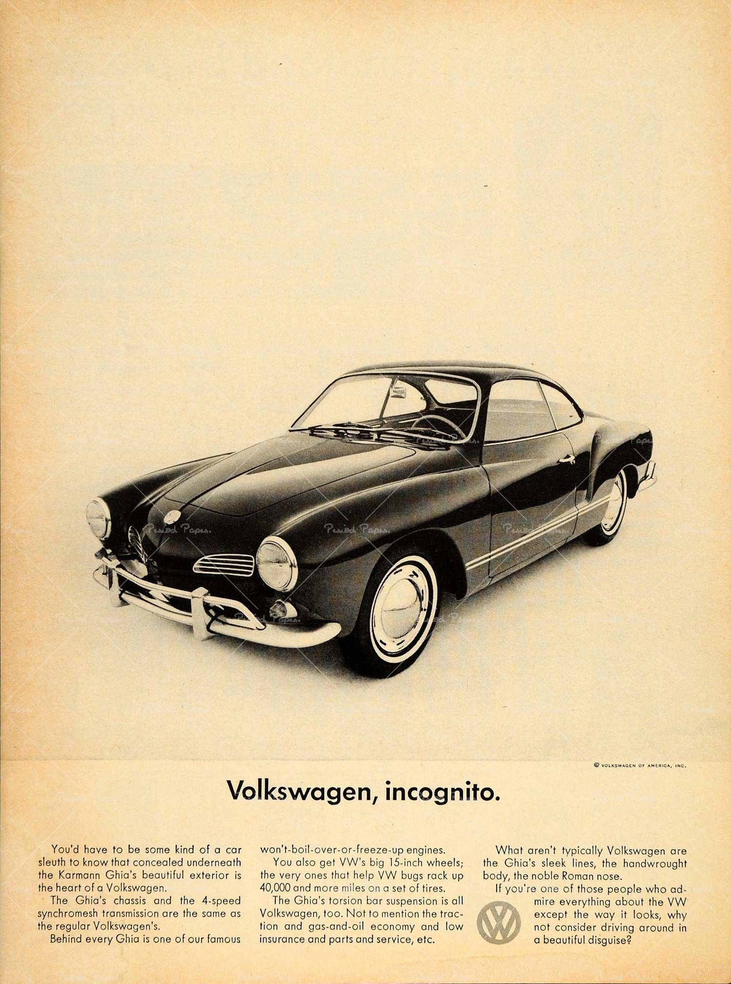 Karmann Ghia Vintage Posters