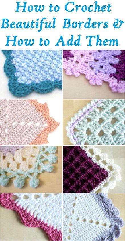 Crochet Borders and how to add crochet border edges ending | Crochet ...