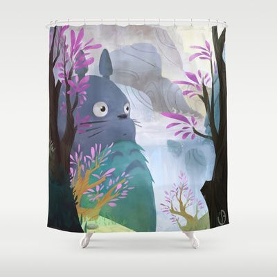 Totoro Shower Curtain By Youcoucou 68 00 Ghibli Art Studio
