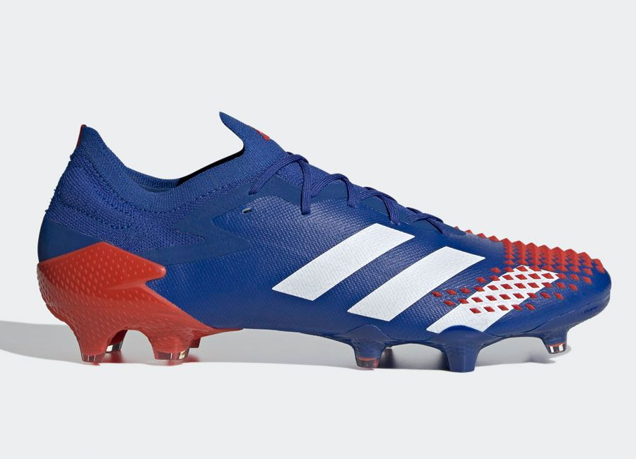 Adidas Soccer Shoes White Red Blue