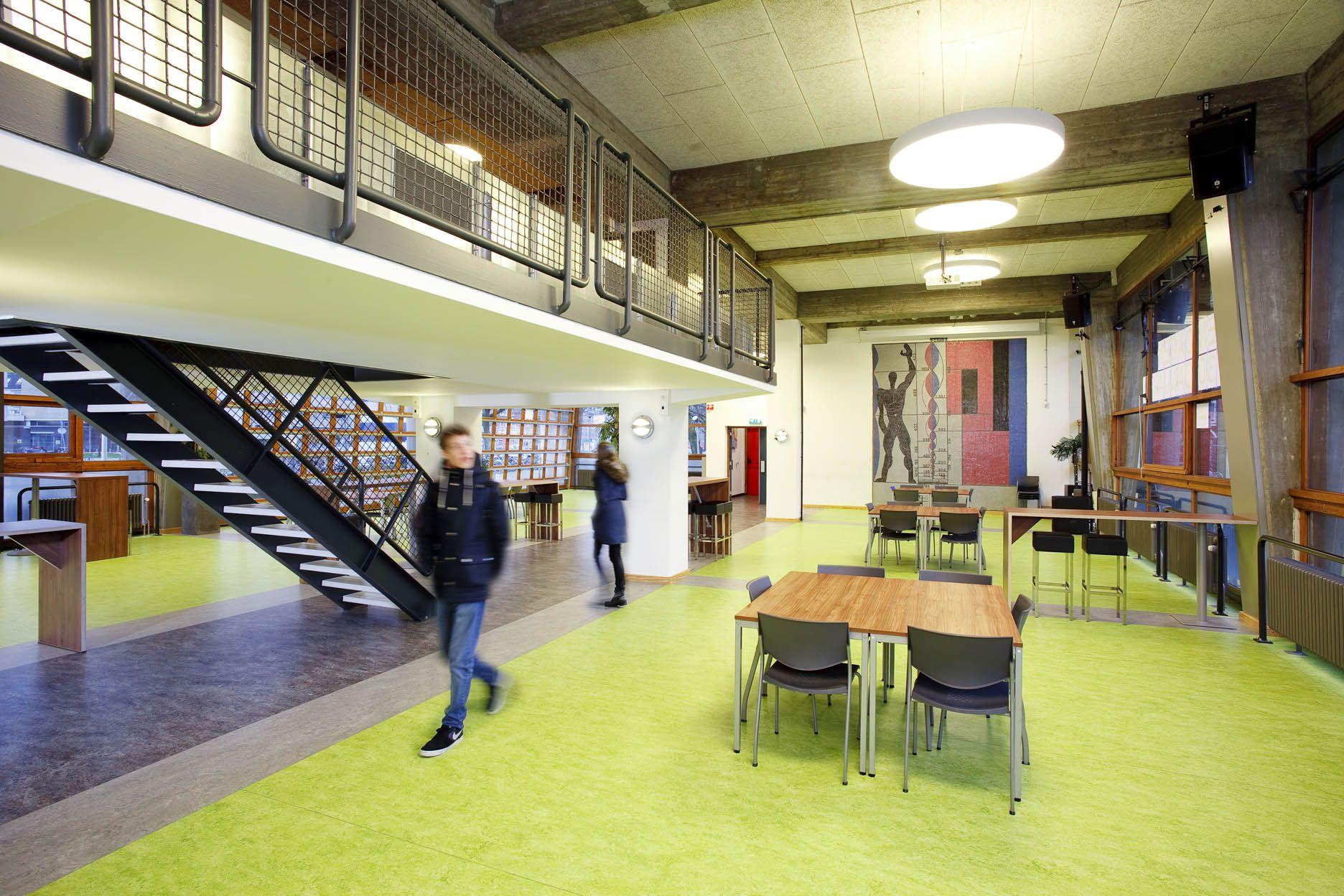 Cygnus gymnasium amsterdam the netherlands marmoleum