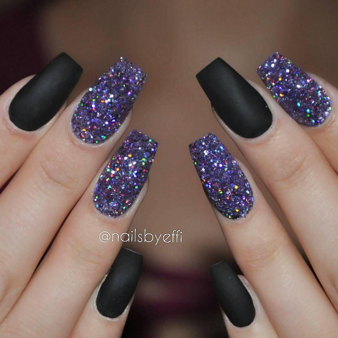 Best 25+ Black And Purple Nails Ideas On Pinterest