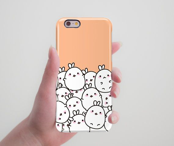 Cute Phone Case Molang iPhone 6 Plus Case Samsung Galaxy S6 Edge Case Rabbit…