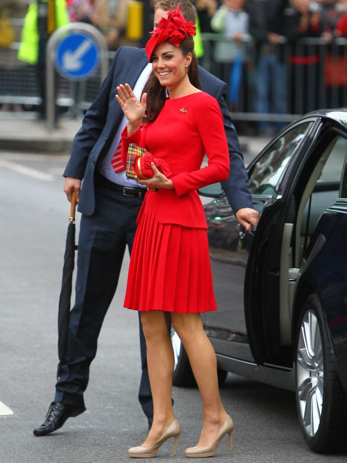 Red, red dress...Catherine, Duchess of Cambridge, is the wife of Prince William, Duke of Cambridge. Merry Christmas