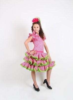 58a9fec36 Vestido de flamenco para niña, Talla 10 en 2019 | Traje flamenca ...