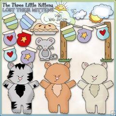 The Three Little Kittens 1 Ne Cheryl Seslar Clip Art Gatinhos