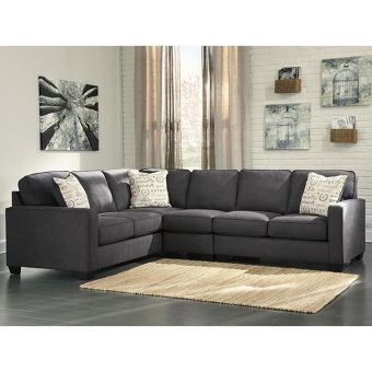 Alenya 3-Piece Sectional with Right Facing Loveseat in Charcoal | Nebraska Furniture Mart