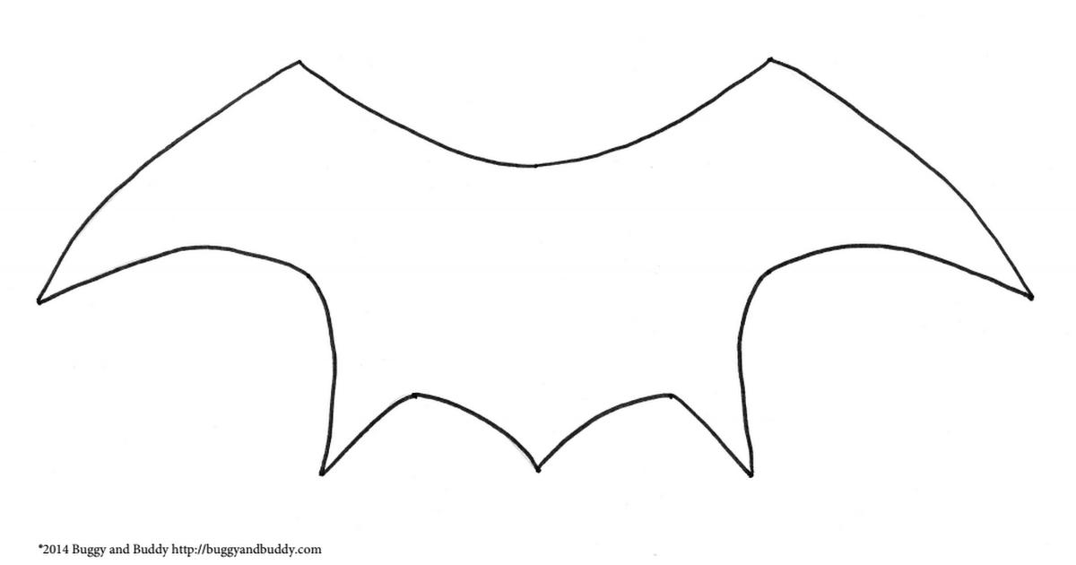 bat wing template pdf the boo crew halloween crafts