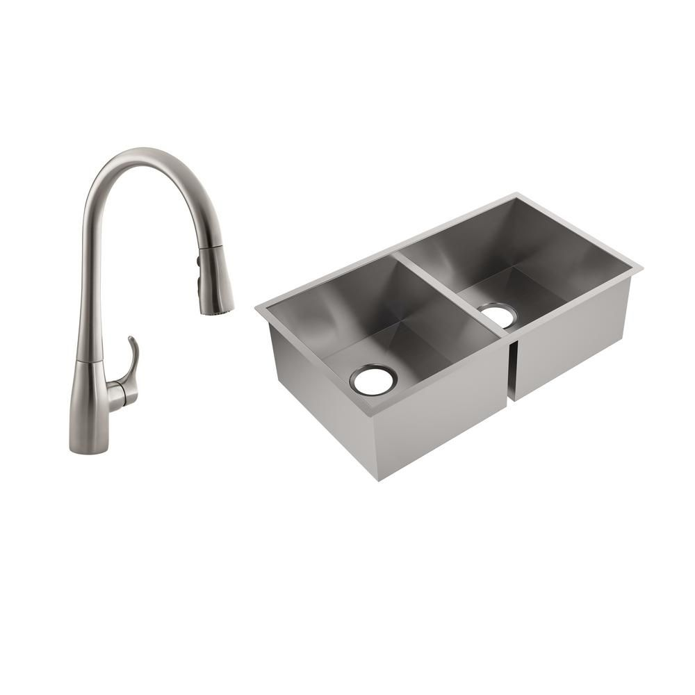 Kohler Lyric Undermount Stainless Steel 32 In Double Bowl Kitchen