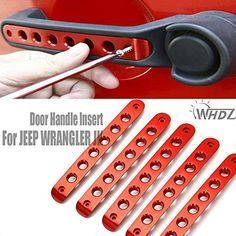 WHDZ Jeep Wrangler JK Unlimited Aluminum Jeep Grab Handle Covers