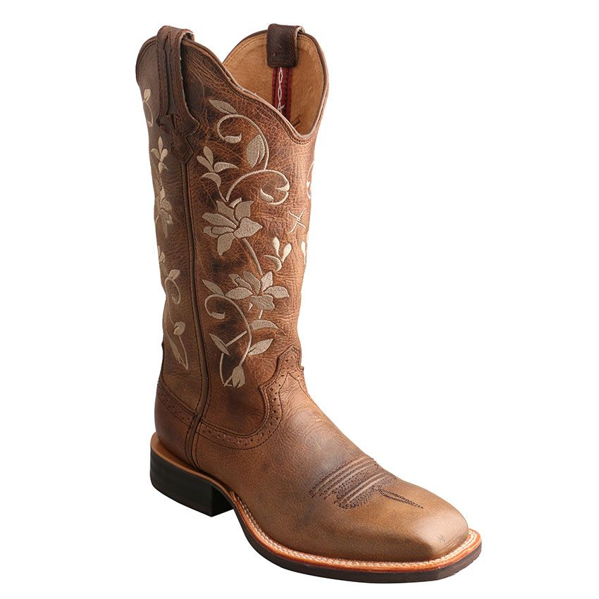 NEW OLD GRINGO Women's Floral Embroidery Sora Leather 8 Cowboy Boot Size 10B