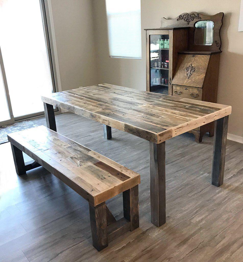 Reclaimed Wood Classic Farm Dining Table Farm Dining Table