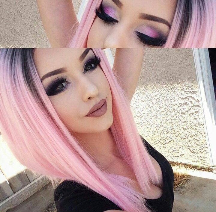 Pink Fade Hair Purple Violet Red Cherry Pink Bright Hair