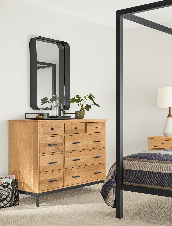 Linear Wood Dressers Modern Living Room Furniture in