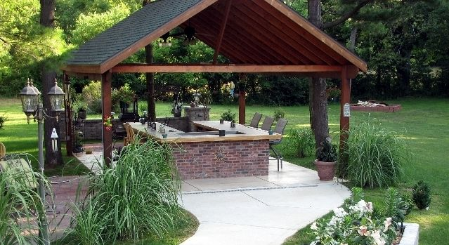find this pin and more on outdoor kitchen and patio brick bbq grill pics and designs - Patio Bbq Designs