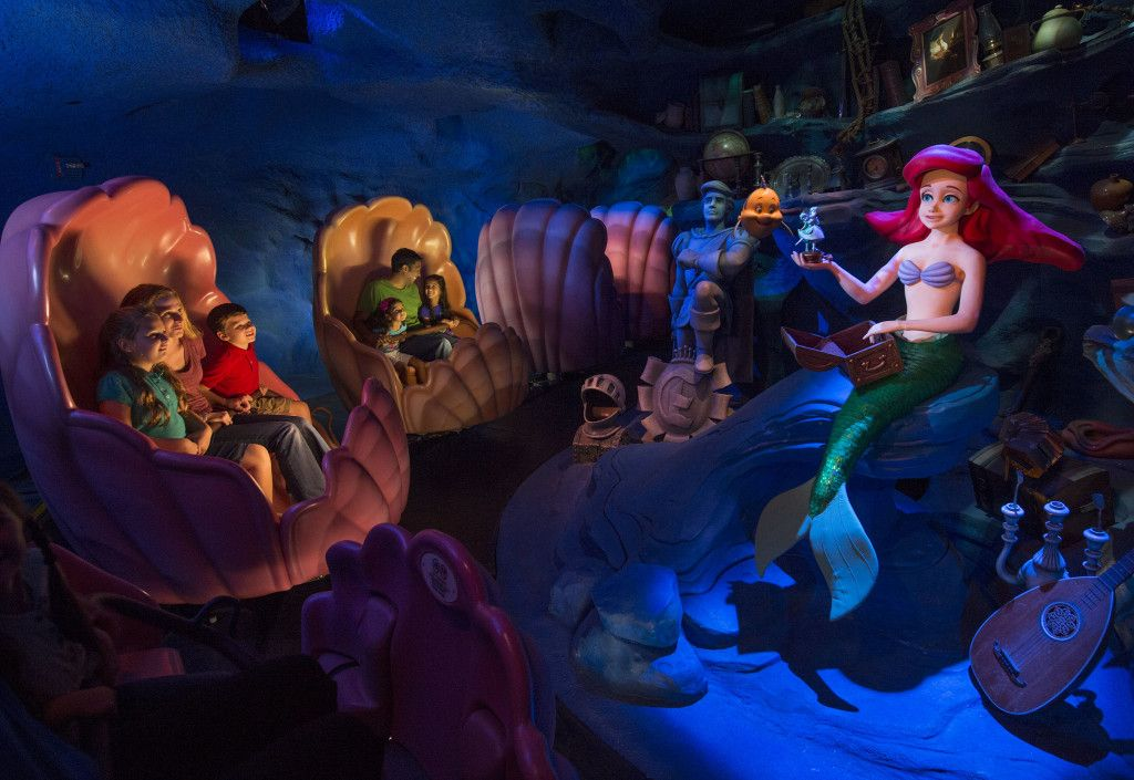 Image result for magic kingdom under the sea ride