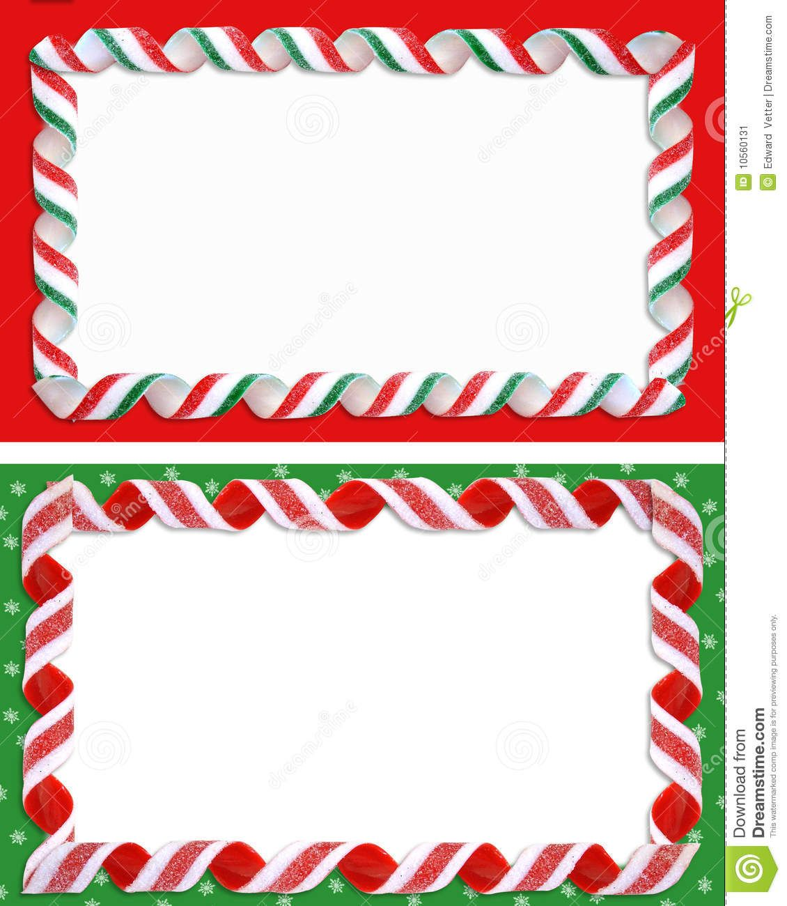 Christmas Labels Borders Blank Stock Image  Image