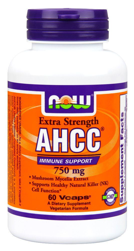 Now Foods Ahcc 750 Mg - 60 Vcaps Healthy Natural Killer (Nk) Cell