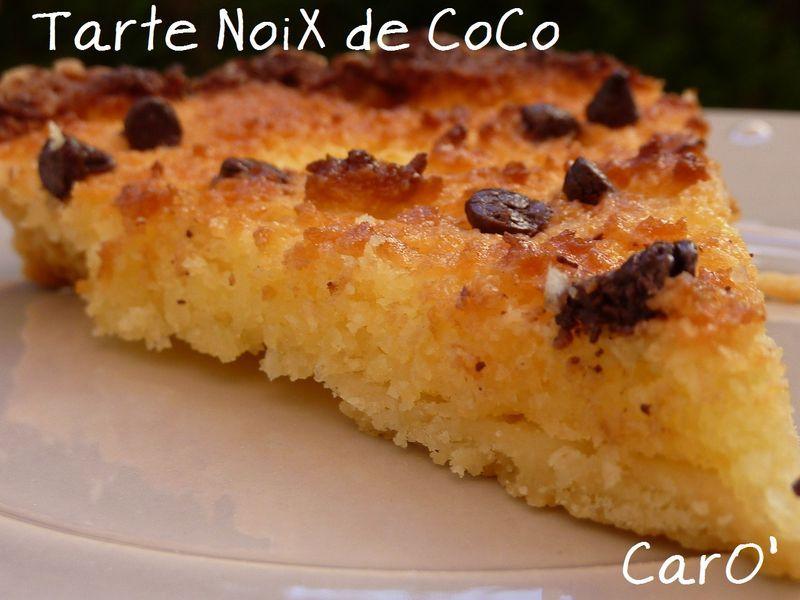 Tarte � la Noix de Coco