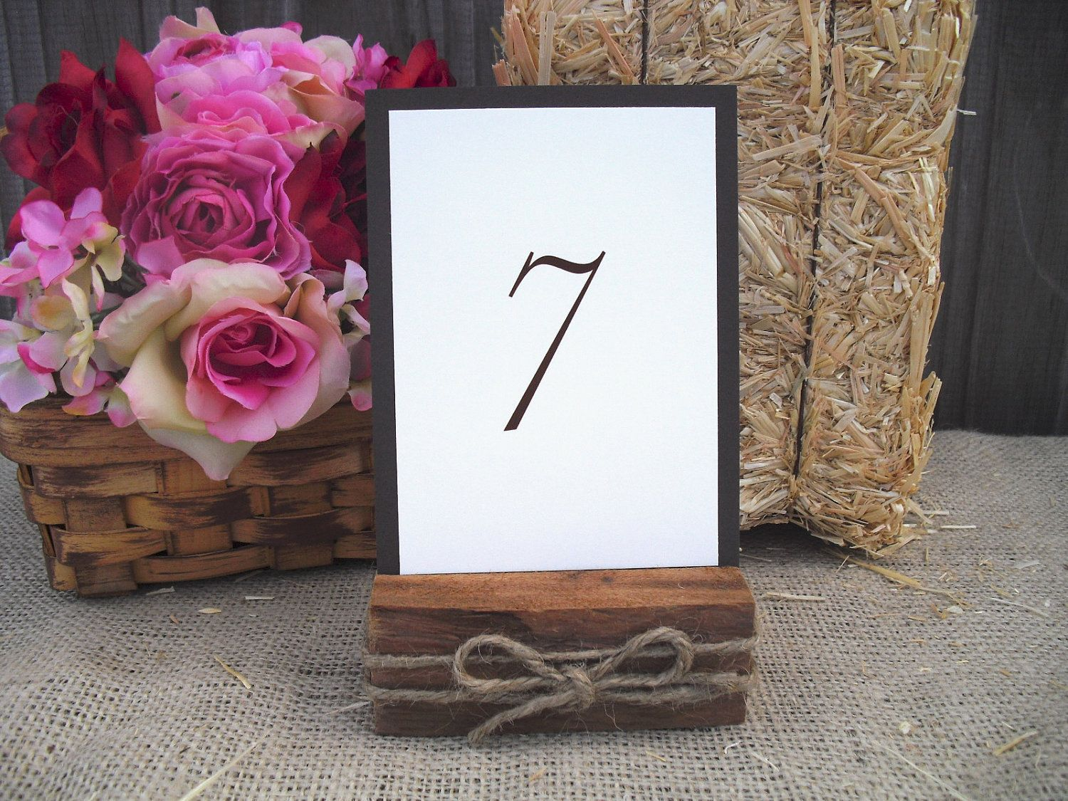 SET OF 6 Cedar And Rope Rustic Wood Table By Dazzlingexpressions