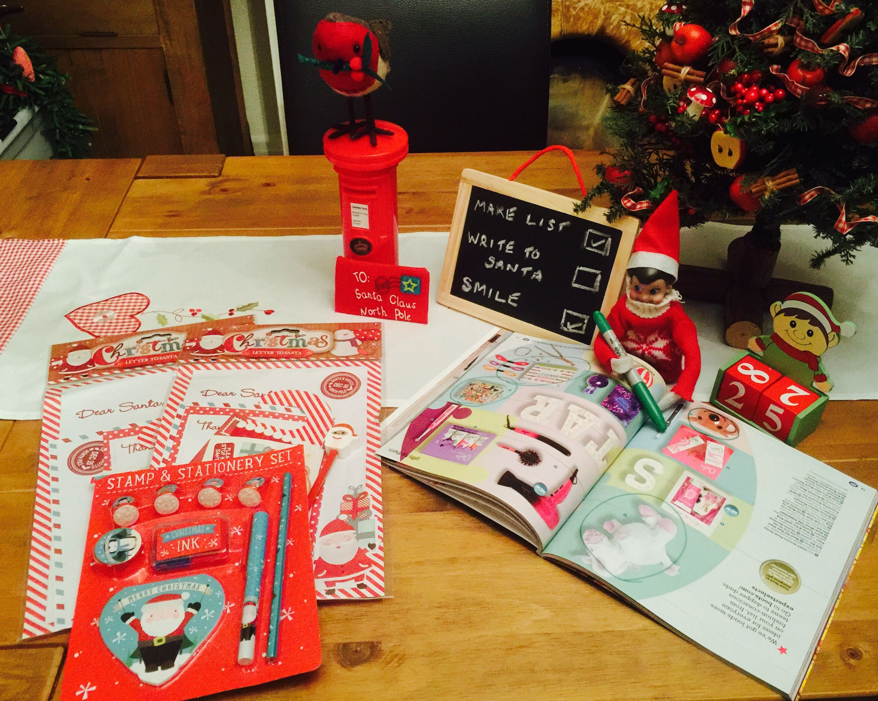 Day 2. Circling catalogues and leaving stationary for letters to Santa.