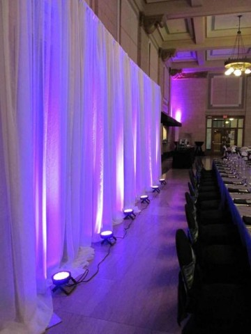 Purple DIY LED Uplight Backdrop | Lincoln Nebraska Weddings | Elite Events Rental