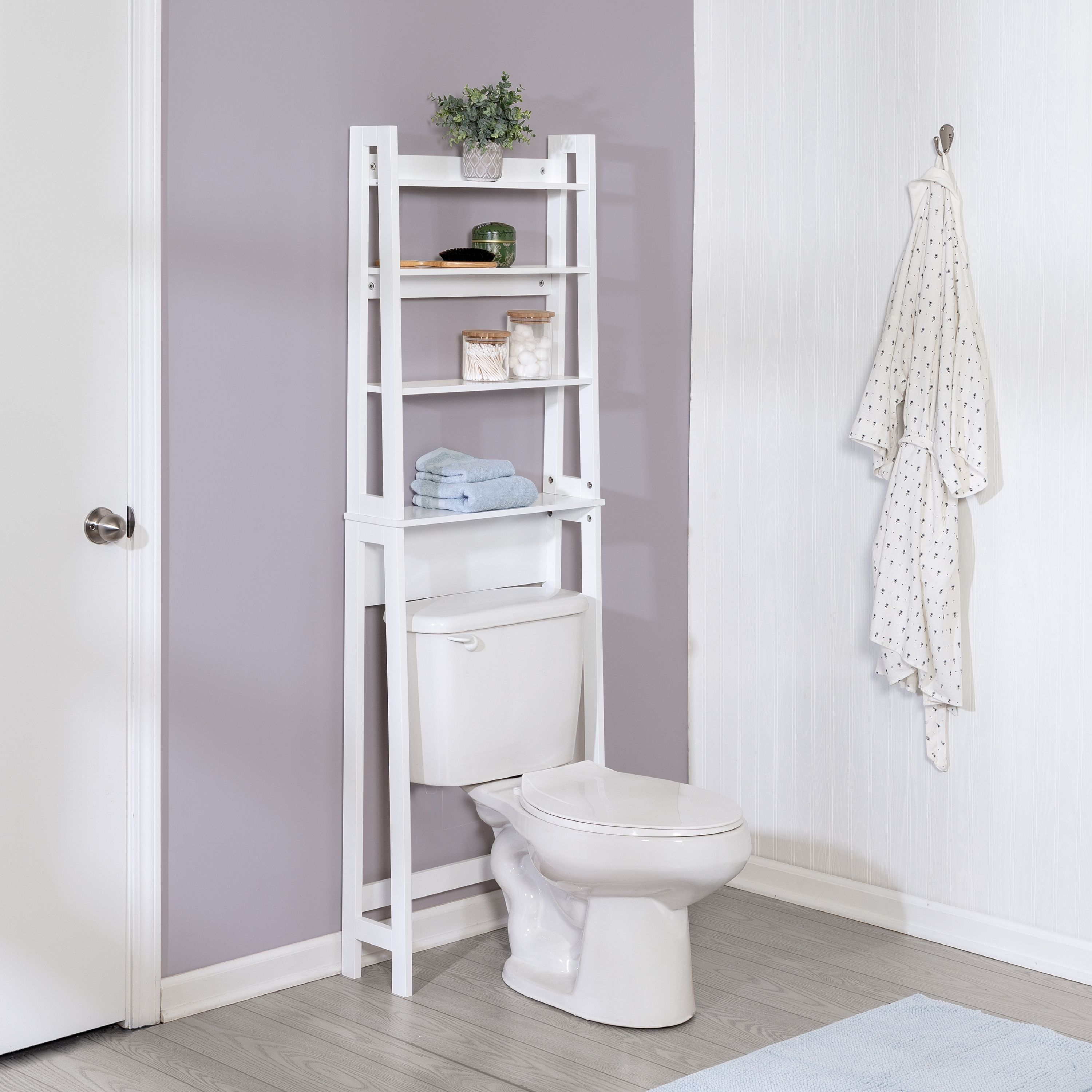 Honey Can Do Over The Toilet Bathroom Shelving Space Saver Ashley Furniture Homestore In 2021 Bathroom Space Saver Toilet Storage Over The Toilet
