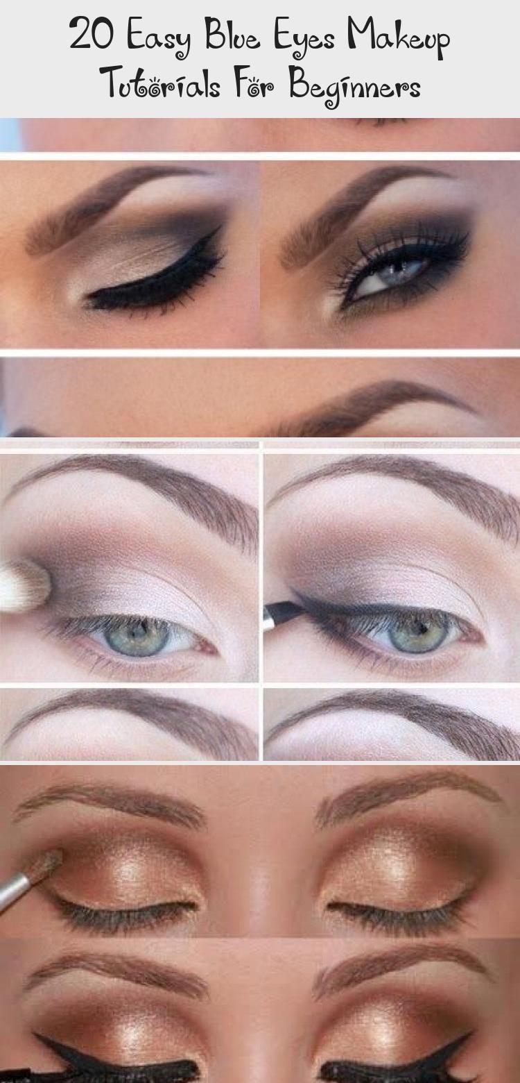 20 Easy Blue Eyes Makeup Tutorials For Beginners In 2020 Purple
