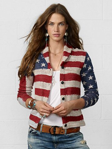 0e2e7433b2a9 Details about Denim Supply Ralph Lauren Women Military American Flag ...