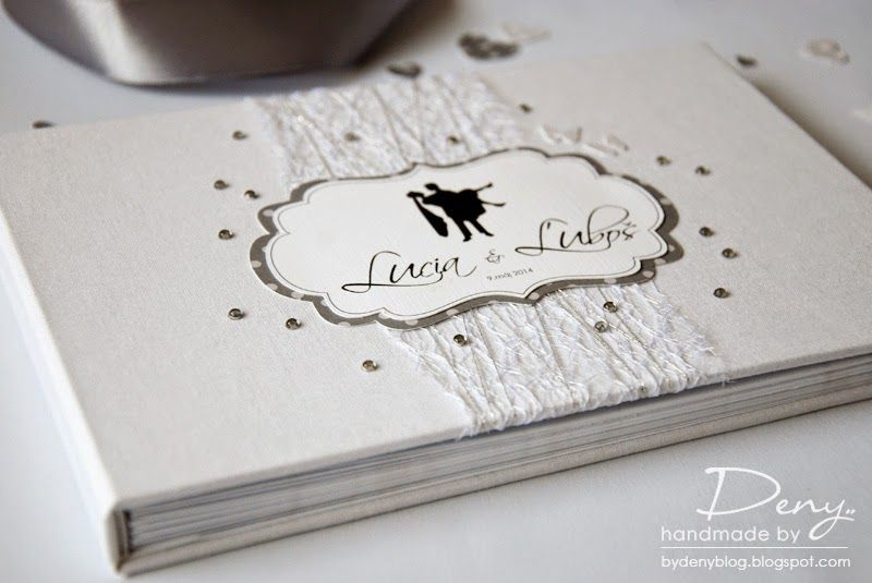 wedding guest book in white silver colors // #weddingwhite #weddingsilver