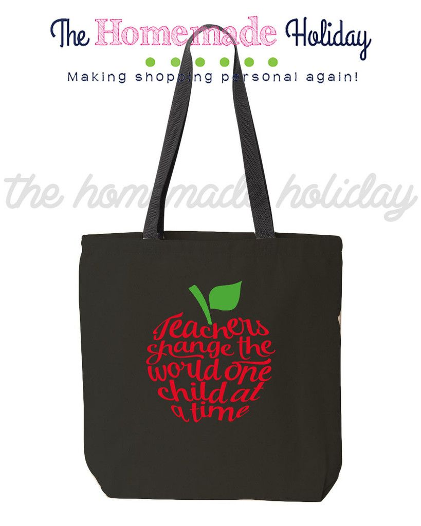 Teachers change the world one child at a time canvas tote bag ...