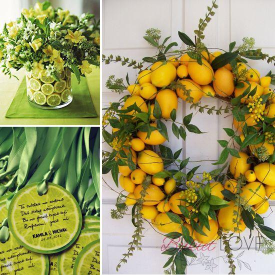Bukietlove Kwiaty Na Slub Bukiety Slubne Krakow I Okolice Zielony Wreaths Lemon Wreath Door Decorations