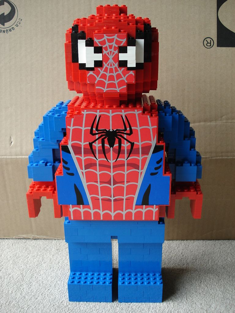 Lego Sculpture Spiderman Such A Cool Idea To Build Your Own