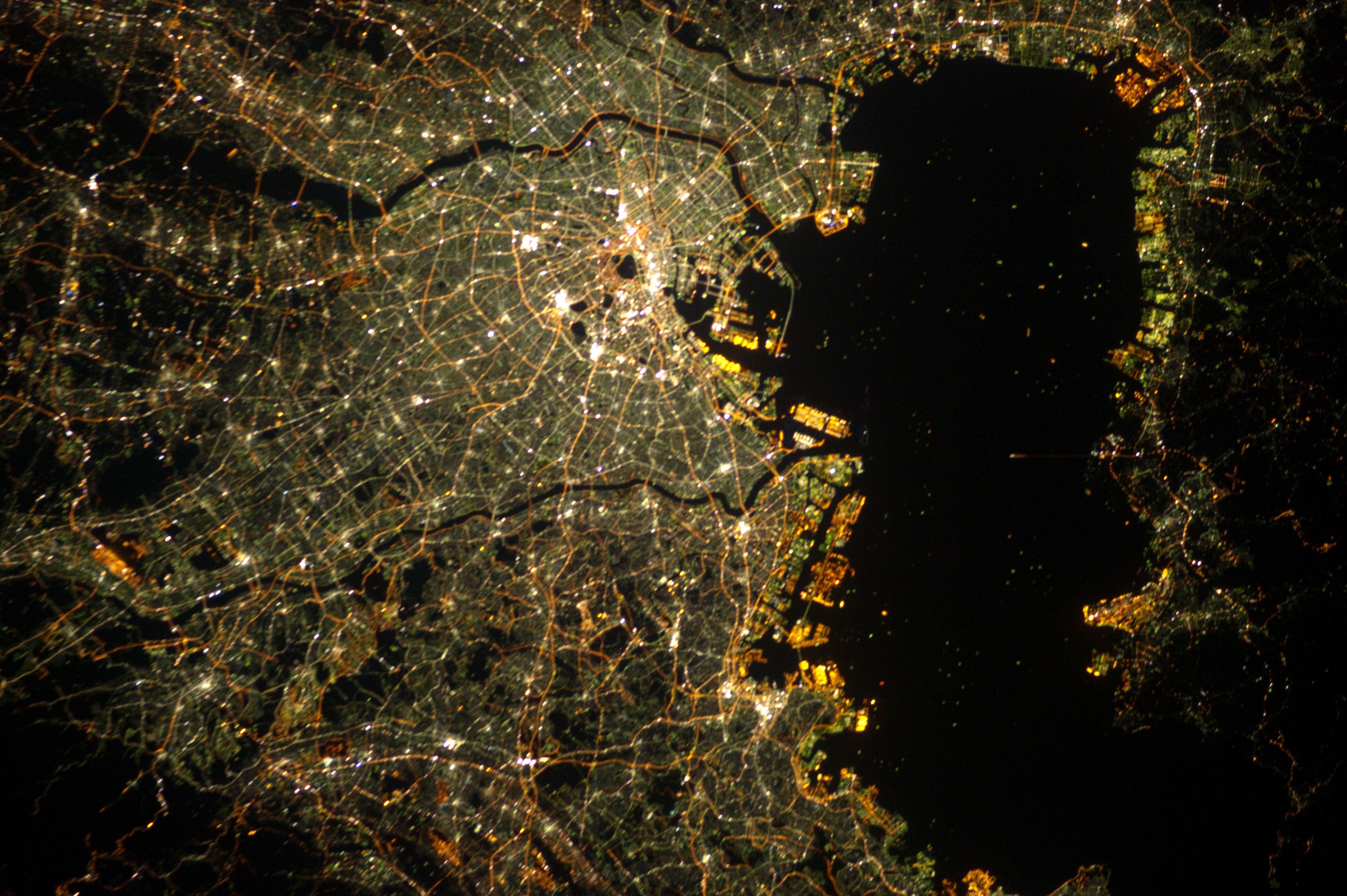 Image result for tokyo night satellite   Teletel   Tokyo ...