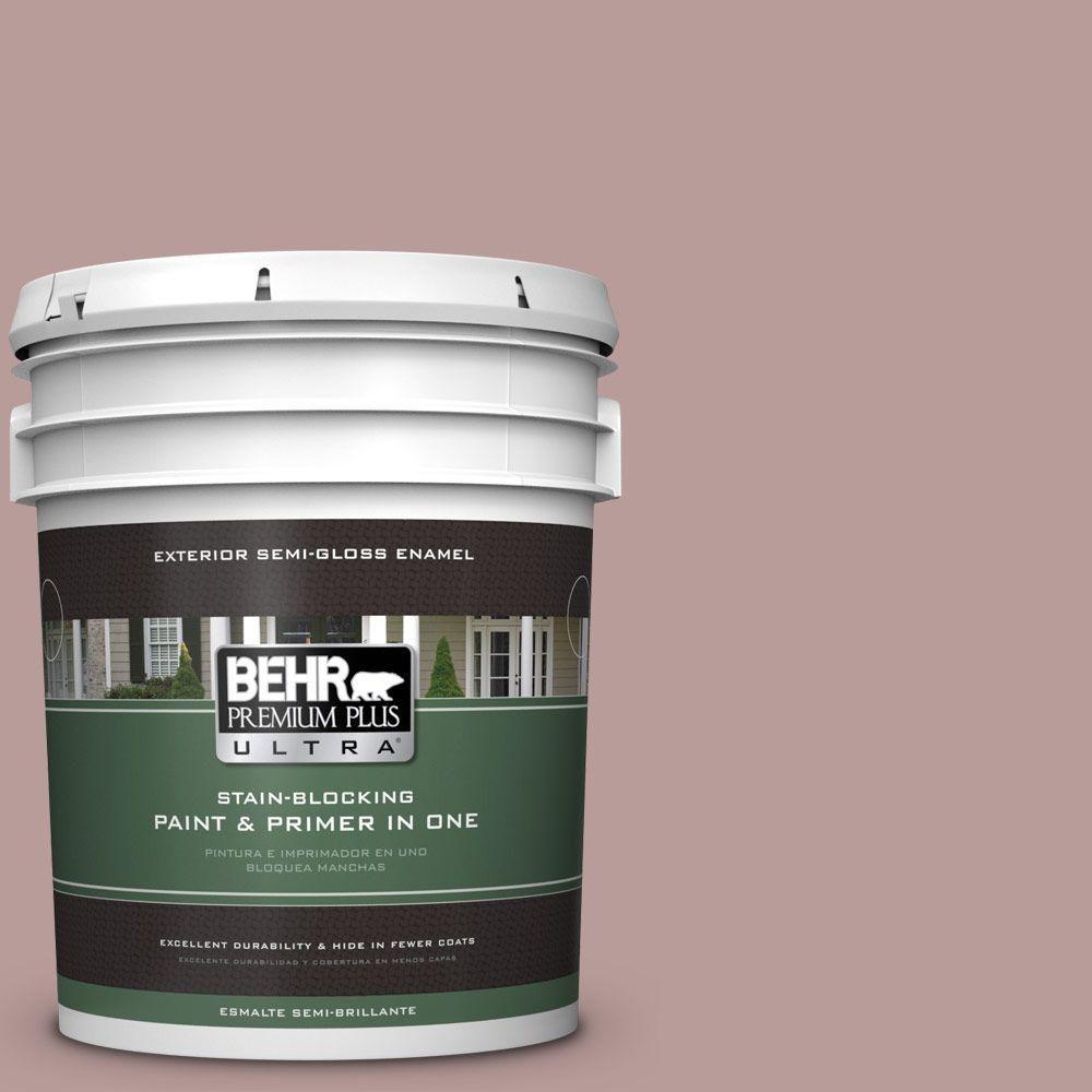 BEHR Premium Plus Ultra 5-gal. #710B-4 Quiet Refuge Semi-Gloss Enamel Exterior Paint