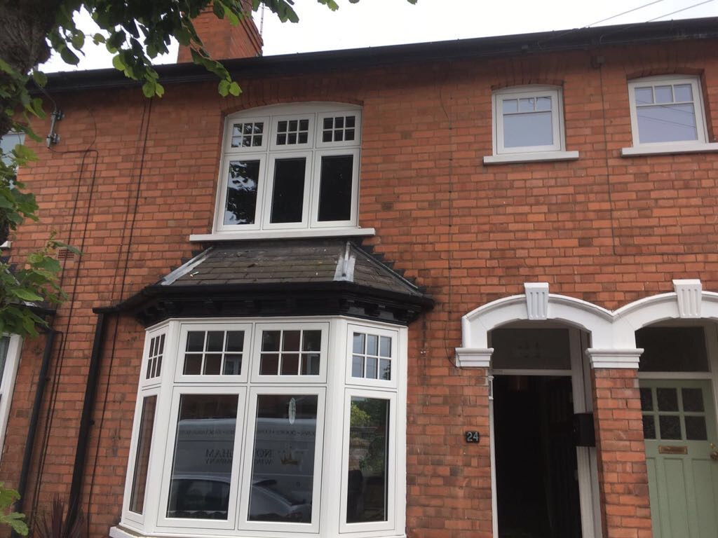 Residence Collection R7 Flush Casement Windows In White Woodgrain Foil A Rated Glazing As Standard With Pewter Monk White Windows Windows Double Glazed Window