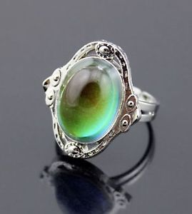 FREE-GIFT-BAG-Mood-Colour-Temp-Change-Silver-Tone-Vintage-Style-Adjustable-Ring. #moodring #jewellery