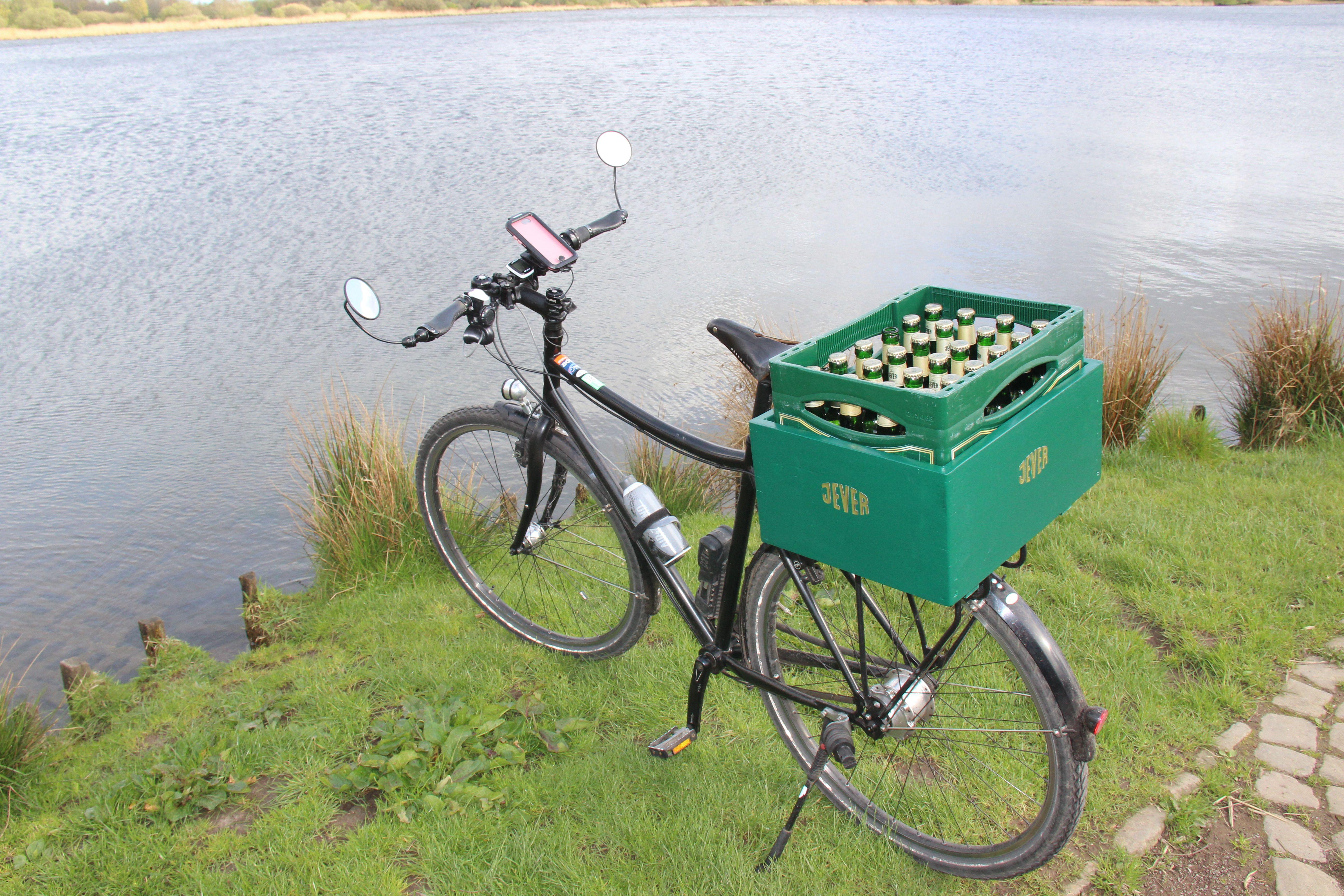 bier transport mit dem fahrrad dank racktime gep cktr ger. Black Bedroom Furniture Sets. Home Design Ideas