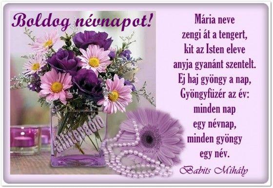 mária névnapi köszöntő névnap, Mária, szöveges, képeslap, virágok, köszöntő, vers  mária névnapi köszöntő