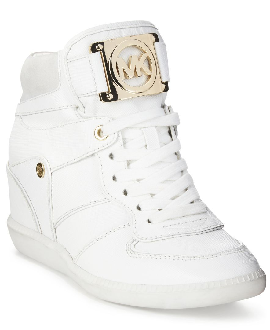 ee61b352012 MICHAEL Michael Kors Nikko Lace-Up High-Top Wedge Sneakers - All Women's  Shoes - Shoes - Macy's