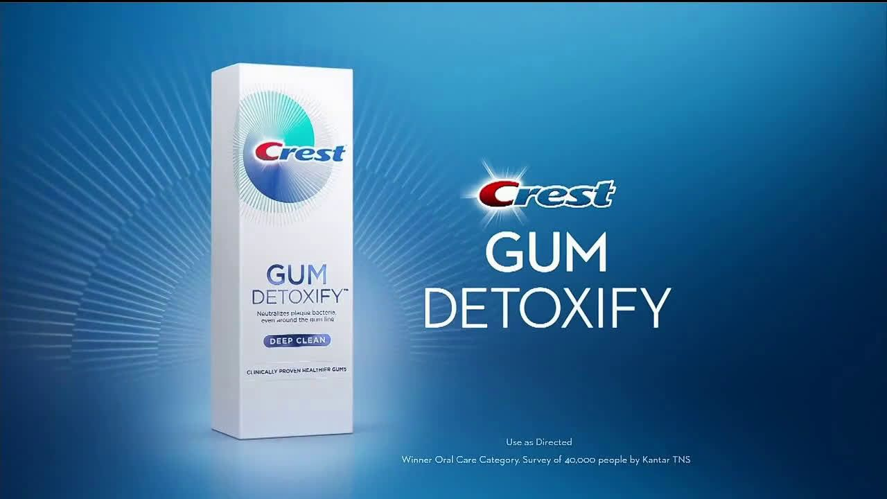 Crest Gum Detoxify Below The Gumline Ad Commercial On Tv 2019 Gum Care Natural Toothpaste Sensitive Teeth
