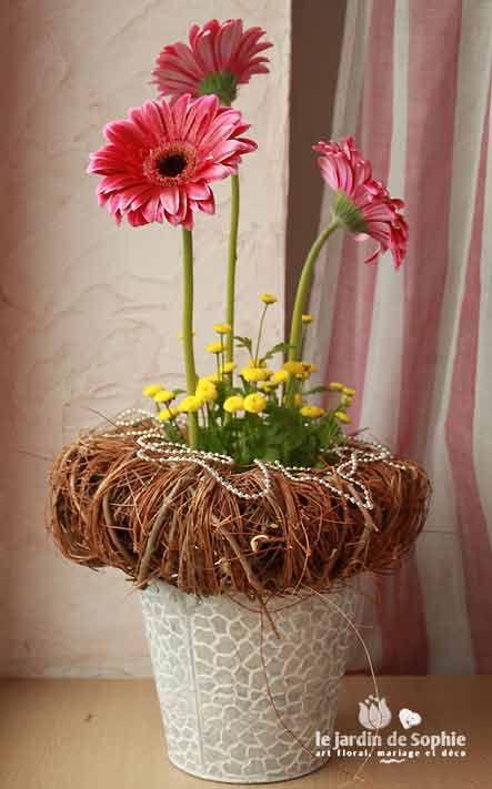 Composition Florale Pour Centre De Table No L Avec Une