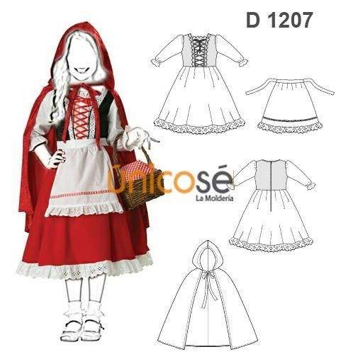 D1207 Www Unicose Net Haloween Costumes Fashion Doll Clothes Patterns